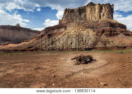 Discarded engine at Reds Canyon in the San Rafael Swell near Greenriver Utah.