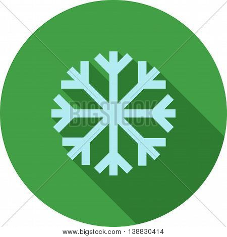Snowflake, snow, ice icon vector image. Can also be used for seasons. Suitable for use on web apps, mobile apps and print media.