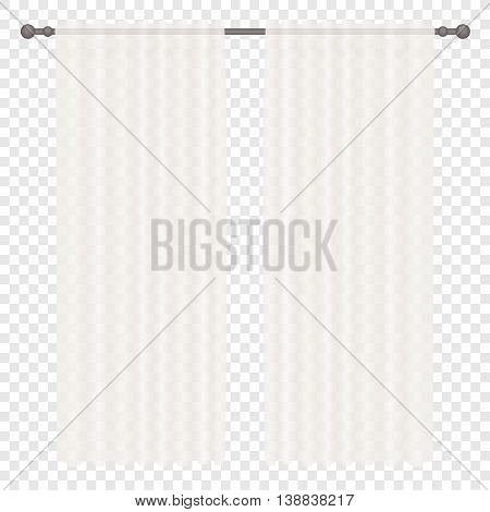 Vector White Curtains Isolated on transperant alpha background