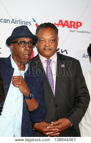 LOS ANGELES - JUL 16:  Arsenio Hall, Jessie Jackson at the HollyRod Presents 18th Annual DesignCare at the Sugar Ray Leonard's Estate on July 16, 2016 in Pacific Palisades, CA