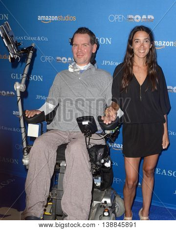 LOS ANGELES - JUL 14:  Steve Gleason, Michel Varisco at the Gleason LA Premiere Screening at the Regal 14 Theaters at LA Live on July 14, 2016 in Los Angeles, CA