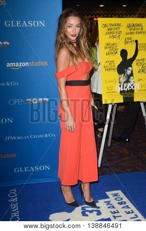LOS ANGELES - JUL 14:  Courtney Sixx at the Gleason LA Premiere Screening at the Regal 14 Theaters at LA Live on July 14, 2016 in Los Angeles, CA