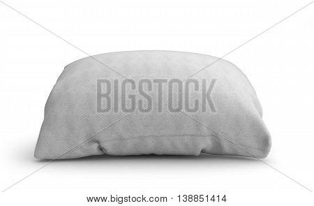 Clasic White Rectangular Pillow 3D Illustration On White