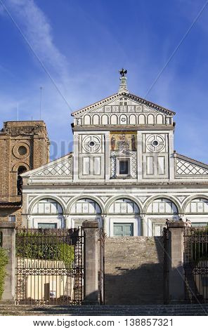 Italy. Florence. San Miniato al Monte in a sunny day