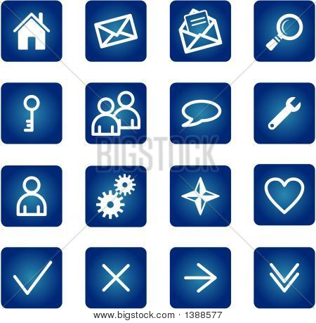 Grundlegende Web-Icons Set