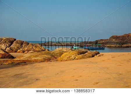 Om Beach, Gokarna, Karnataka, India