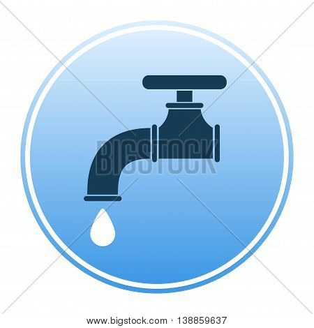 Water tap icon. Flat vector stock illustration. Colored image