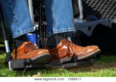 Feet In A Wheelchair