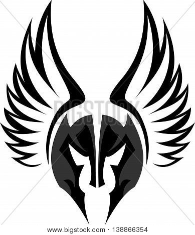 stock logo the mask of knight with wings