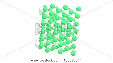 Chromium 3 chloride or chromic chloride describes any of several compounds of with the formula CrCl3H2O. 3d illustration