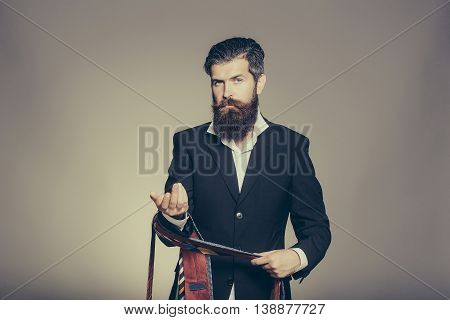 Bearded Man With Ties