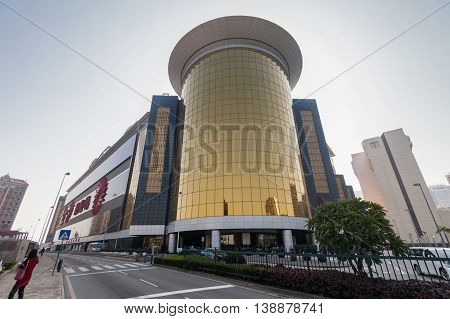 Taipa, Macau - February 2, 2015: The Sands Hotel - Overlooking Macau Fisherman's Wharf, this sprawling, all-suite casino hotel is 1 km from the Outer Harbour Ferry Terminal for sailings to Hong Kong, and 3 km from the landmark Macau Tower.