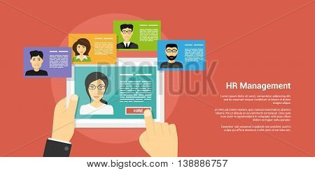 Human Resource Management Concept