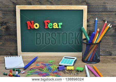 No fear word on school board