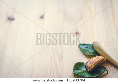Abstract Design Background Vegetables On A Wooden Background. Vintage Tone