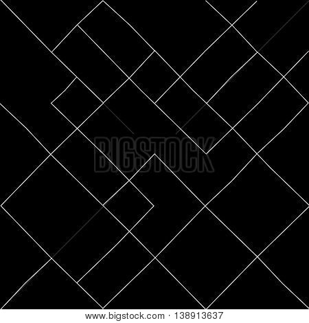 Geometric simple black and white minimalistic pattern, diagonal  thin lines. Can be used as wallpaper, background or texture.