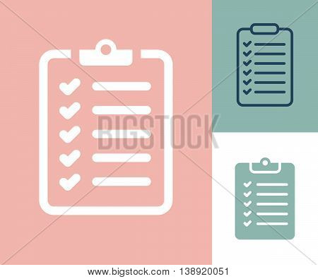 Survey Icons. Checklist Icons. Survey Checklist Icon. Survey checklist flat. Survey checklist design poster