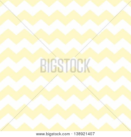 Tile chevron vector pattern with yellow and white zig zag background
