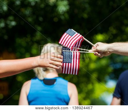 Handing Out Flags