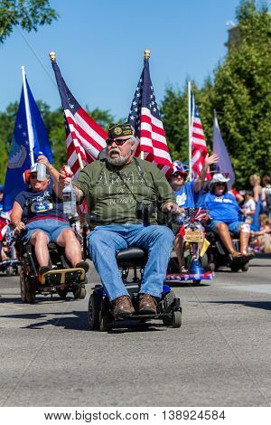 Disabled Veterans Showing Their Support During The Parade