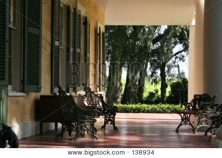 Porch Of A Southern Plantation