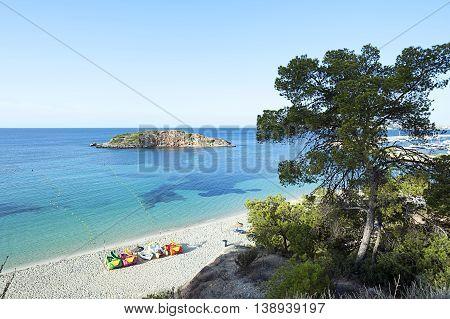 Idyllic Mediterranean Beach Surise