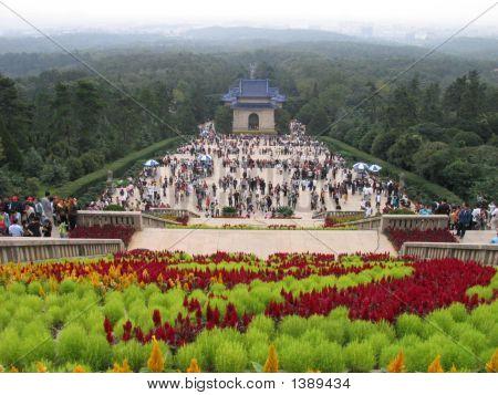 Sun Yat-Sen Mausoleum In Nanjing