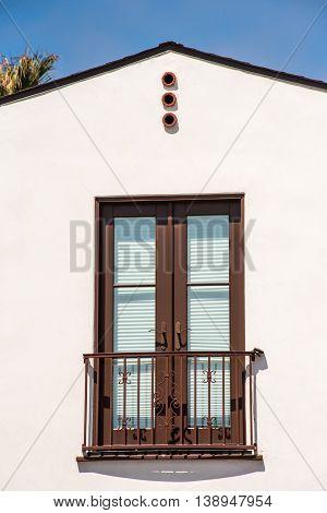 Double Full Lite Door On Fake Balcony