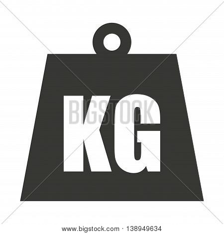 kg weight classic metal vector isolated graphic