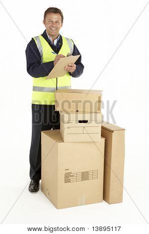 Courier Delivering Parcels