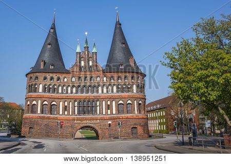 Back Of The Holstein Gate In Lubeck