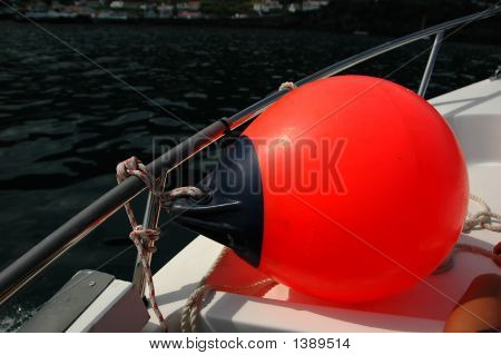 Red Buoy'S On A Boat