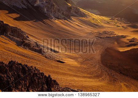 Detail Of Volcanic Landscape At Haleakala National Park, Maui