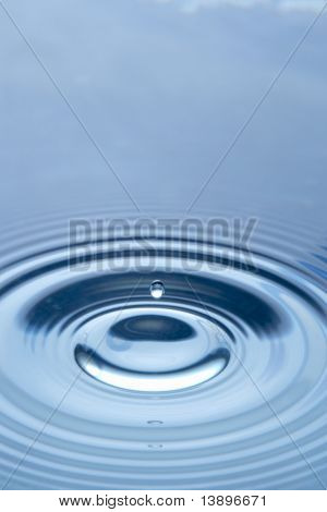 Concentric Circles Forming In Still Water