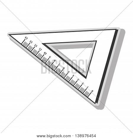 Ruler measurement tool in black and white colors, isolated flat icon. poster