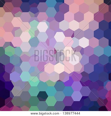 Geometric Pattern, Vector Background With Hexagons In Pink, Blue, Green Tones. Illustration Backdrop