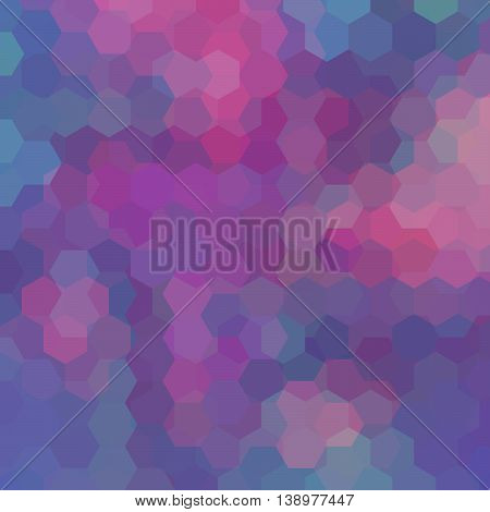 Background Of Geometric Shapes. Purple Mosaic Pattern. Vector Illustration