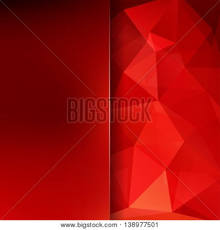Polygonal Background. Creative Template. Abstract Vector Backdrop For Use In Design. Red Color.
