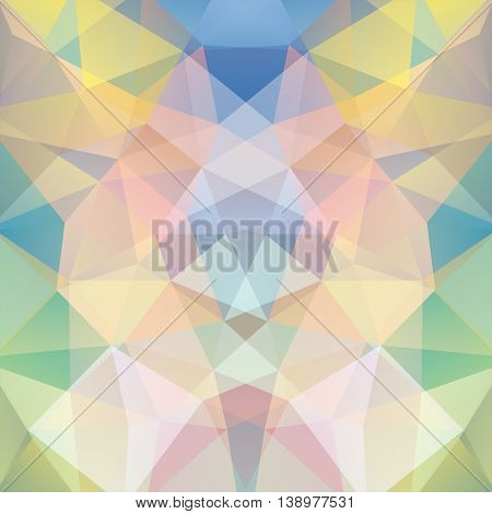 Abstract Geometric Style Colorful Background. Pastel Business Backdrop. Vector Illustration
