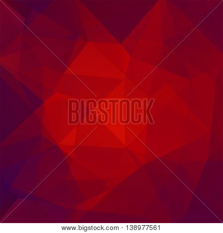 Polygonal Background. Can Be Used In Cover, Book Design, Website Backdrop. Vector Illustration. Red,