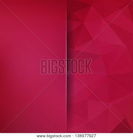 Polygonal Vector Background. Blur Backdrop. Vector Illustration. Red, Pink Color.