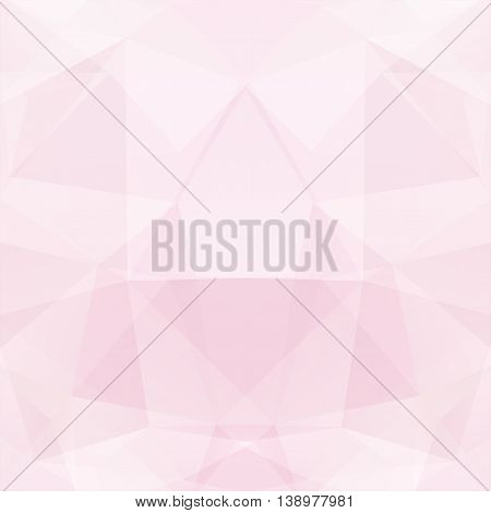 Geometric Pattern, Polygon Triangles Vector Background In Pastel Pink Tones.
