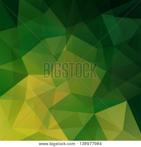 Abstract Geometric Style Green Background With Triangles. Vector Illustration
