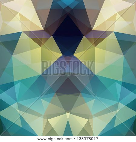 Abstract Polygonal Vector Background. Light Geometric Illustration. Blue, Yellow, White Colors.