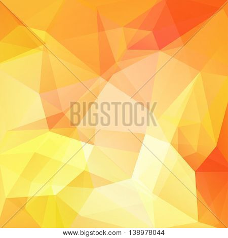Abstract Background Consisting Of Triangles. Vector Illustration. Yellow, Orange Colors.