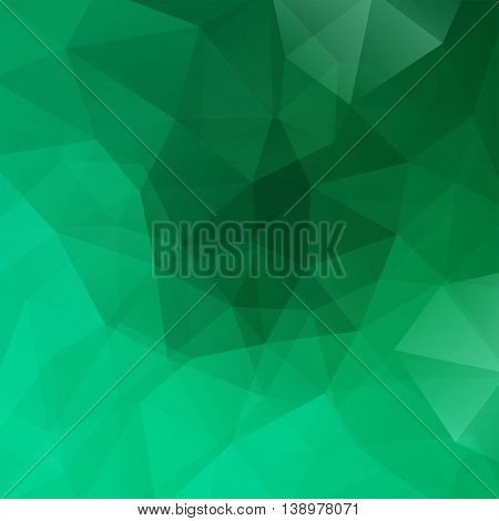 Background Made Of Triangles. Square Composition With Geometric Shapes. Eps 10 Green Color.