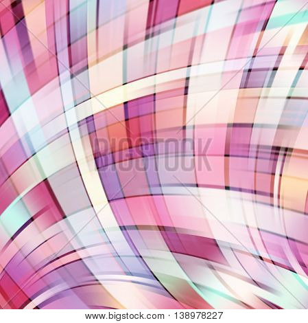 Colorful Smooth Light Lines Background. Pink, White Colors. Vector Illustration.