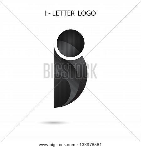 I-letter icon abstract logo design.I-alphabet symbol.Vector illustration
