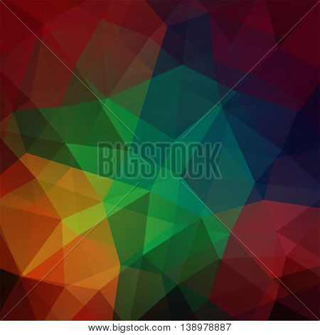 Abstract Background Consisting Of Dark Colorful Triangles, Vector Illustration
