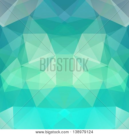 Polygonal Background. Can Be Used In Cover, Book Design, Website Backdrop. Vector Illustration. Gree